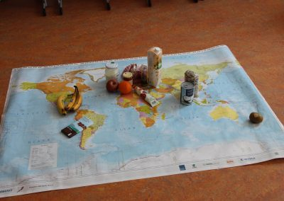 Weltkarte der Lebensmittel
