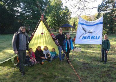 Zelten auf Haus Heidhorn im September 2019