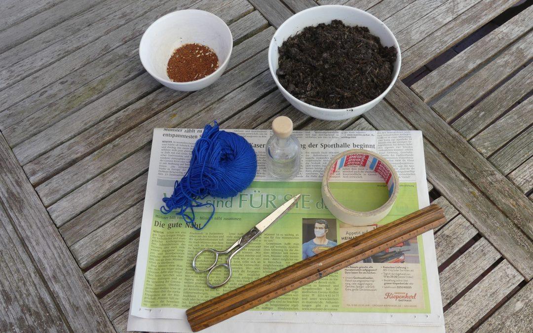 Anzuchttöpfe aus Papier selber machen
