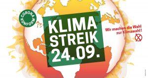 Banner des Klimastreiks für den 24.9.21