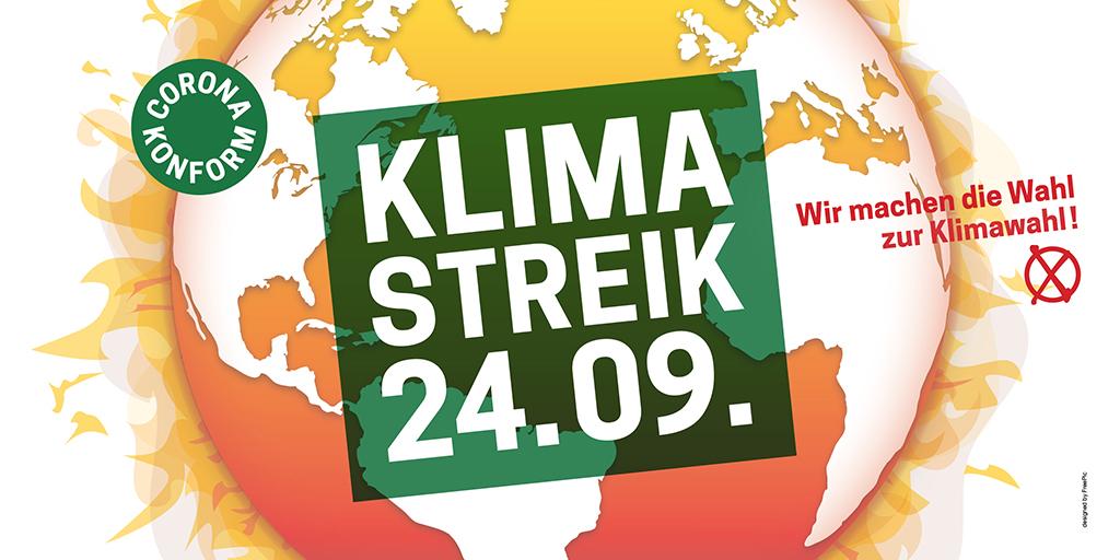 Aufruf zum Klimastreik am 24.9.21