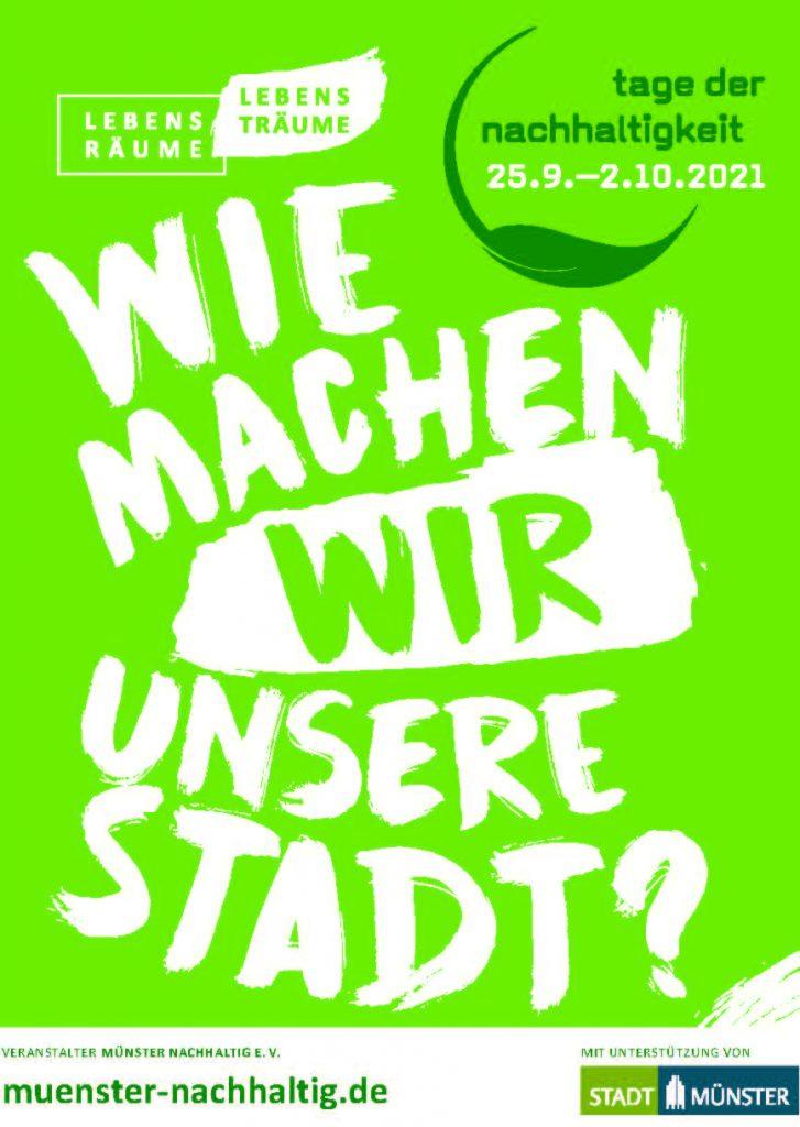 Banner der Tage der Nachhaltigkeit Münster 2021
